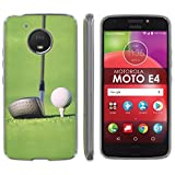 "Motorola Moto E [4th Gen] TPU Silicone Phone Case [Mobiflare] [Clear] Ultraflex Thin Gel Phone Cover - [Golf Drive] for Moto E4 [Moto E 4th Gen] [5"" Screen]"
