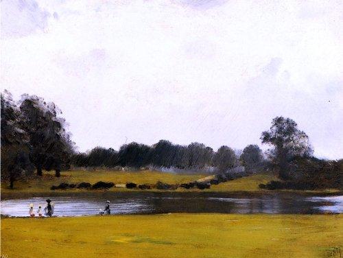 Park Hyde Oil - Art Oyster Giuseppe De Nittis The Serpentine Hyde Park London - 24.1