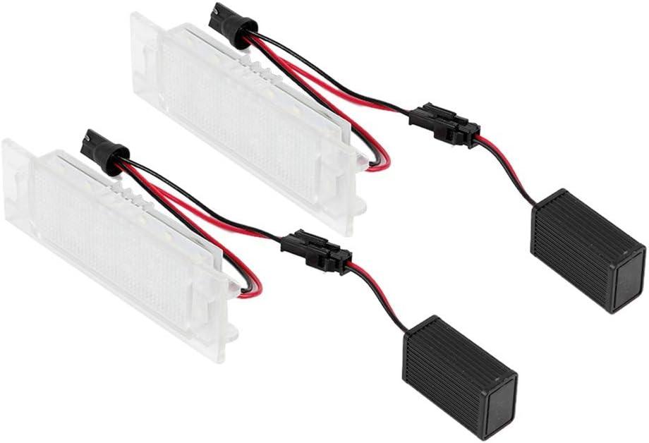 1 par de 18 LED de matr/ícula de coche Luz blanca apta para Corsa C da 09//2000-2006 Accesorio autom/ático KIMISS Luz de matr/ícula