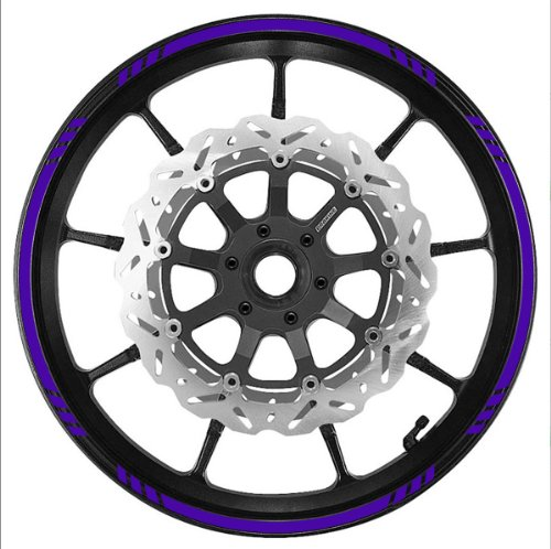 PURPLE Wheel Rim Tape SPEED Graduated Stripe fit ALL Makes of Motorcycles, Cars, Truckse