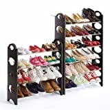 Just Home Zapatera Rack 10 Niveles para 30 Pares Zapatos Shoes Fácil Armado Resistente Practico