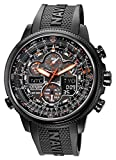 Citizen Men's Eco-Drive Navihawk A-T Black Ion-Plated Stainless Steel Bracelet Watch 46mm JY8035-55E