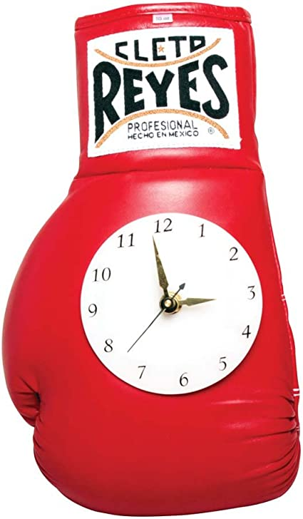Cleto Reyes 10 oz Authentic Pro Fight Leather Clock Glove Red
