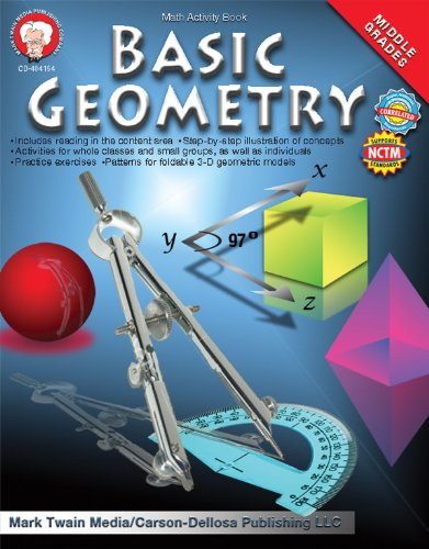 Basic Geometry Math Activity Book, Middle Grades