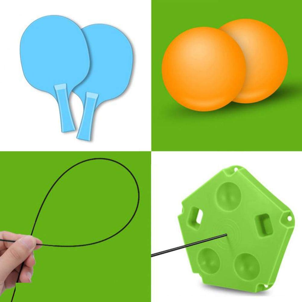 Inconceivabm Ping Pong Table Tennis Trainer with Elastic Soft Shaft Ping Pong Training Tools for Children Indoor Or Outdoor Play Ping Pong Balls by Inconceivabm