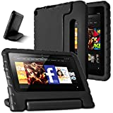 AFUNTA Fire 7 2015 Case,Light Weight Shock Proof Convertible Handle Stand EVA Protective Kids Case for Amazon Fire 7 inch Display Tablet (5th Generation - 2015 Release Only)-Black