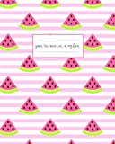 You're One in a Melon Journal: Adorable Striped