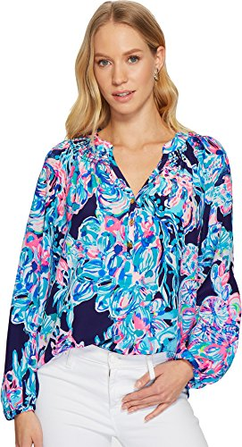 Lilly Pulitzer Women's Elsa Top Bright Navy Caught Up X-Large by Lilly Pulitzer (Image #3)