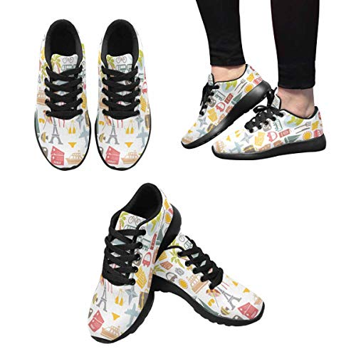 Women's Shoes Design InterestPrint Traveling Running Pattern Outdoors 10 Sneakers ITxZ6q
