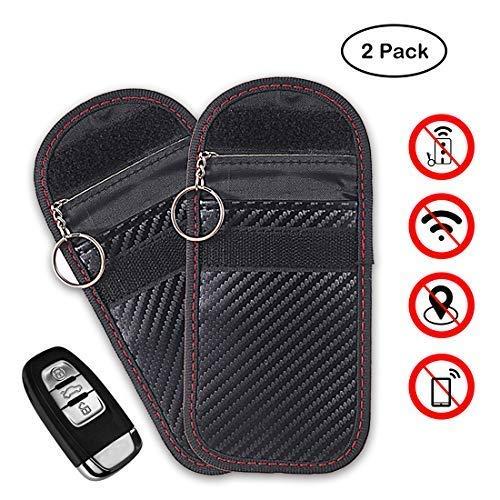 Car Key Signal Blocker Case,faraday key fob protector, Antitheft Lock devices,Car Key Protector WiFi/GSM/LTE/NFC/RF Blocker (Black)