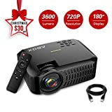 Projector,2019 Newest ABOX A2 Native 720P Portable Home Theater LCD HD Video Projector