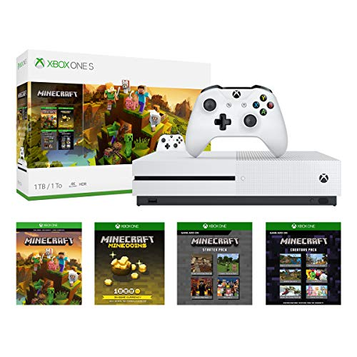 Xbox One S 1TB Console - Minecraft Creators Bundle (Discontinued) (Best Games To Play On Xbox One)
