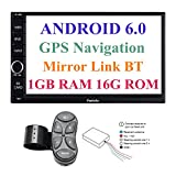 Panlelo PA012s Android 6.0 Car Stereo Double Din Car GPS Navigation 7 inch Car Radio Head Units Touch Screen BT WIFI Mirror Link SWC Quad Core 1GB RAM 16GB ROM AM/FM/RDS