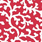 """Waverly Cascade Coral Petal PEVA Flannel Back Tablecloth, 60"""" Round"""