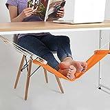 Ducomi Put Your Feet Up–Mini Hängematte Tisch und Schreibtisch für Beruhigen die Beine mit Komfort und Stil–Fußstütze verstellbar ideal für Büro, Haus und Garten (65x 15cm)