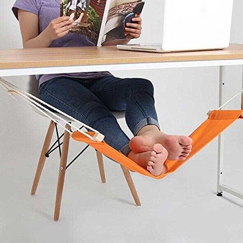 Ducomi Put Your Feet Up - Mini Amaca per Piedi da Tavolo e Scrivania per Distendere le Gambe con Comfort e Stile - Poggiapiedi Regolabile ideale per Ufficio, Casa e Giardino (65 x 15 cm)
