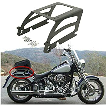 XFMT Chrome Detachables Solo Luggage Rack Compatible with Harley Sportster XL 2004-2018 Compatible withty Eight