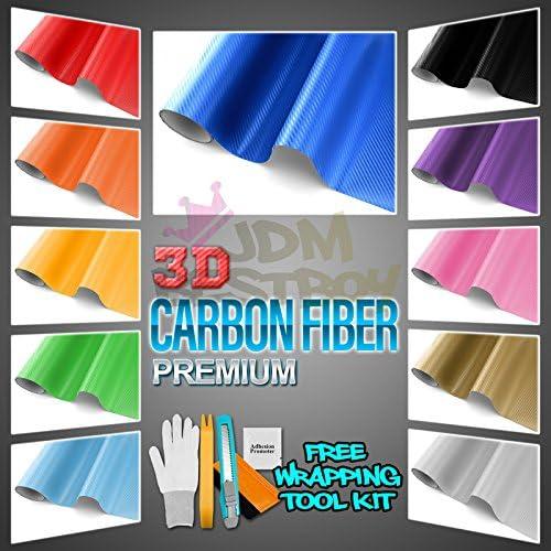 """*12/""""x60/"""" 3D Matte Navy Blue Carbon Fiber Textured Car Vinyl Wrap Sticker Decal"""