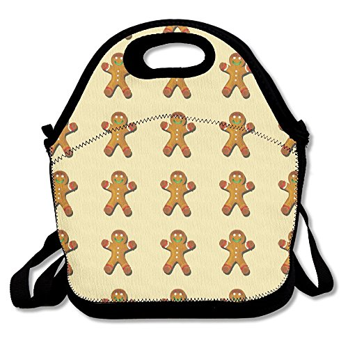 Gingerbread Gingerbread Man Insulated Lunch Bag Picnic Lunch Tote For Work, Picnic, (Ginger Cat Costumes)