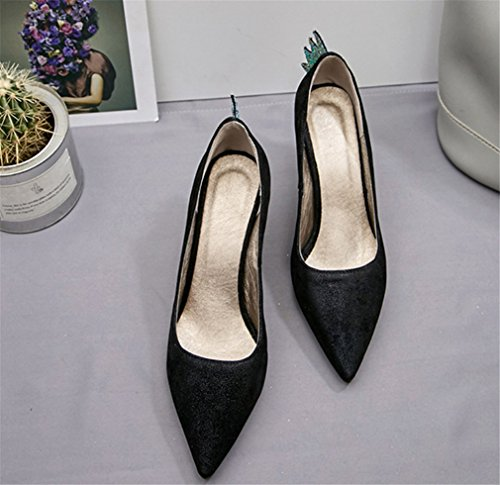 Hauts a Chaussures Clover Femmes Mariée Peep Dating Sandales Toe Blink Luxury Chaton Talons Party De Classique Dames Black Lucky Dressing Princesse Talon qFtw4qn5