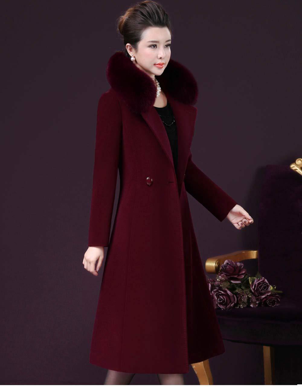 ... EGCRA Cappotti Donna Cappotto da Donna Cappotti Cappotto Invernale  Collo Lungo da Donna Slim Fit Caldo bd26d24f83b