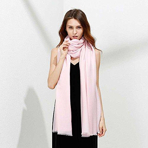 JULY SHEEP Pure 100% lamb wool Ultra Thin Scarf Womens Soft Long Scarves Shawl Wraps by JULY SHEEP (Image #3)
