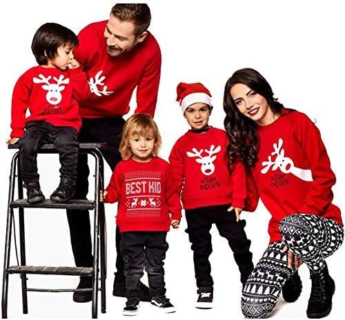 Blaward Famiglia abbinata vacanze di Natale Cervi Felpe Set di maglioni per mamma Pap/à Bambini Regali di Natale Felpe con maniche lunghe