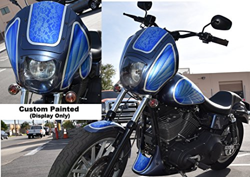 Front Quarter Fairing for Harley-Davidson Dyna T-Sport FXR Sportster (Gloss Black) by CaliBikerClub (Image #5)'