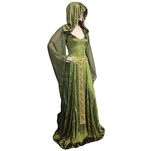 CAGYMJ Dress Party Mujer Vestido,Cosplay Medieval Retro ...
