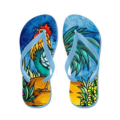 Cafepress Haan 2 - Flip Flops, Grappige String Sandalen, Strand Sandalen Caribbean Blue