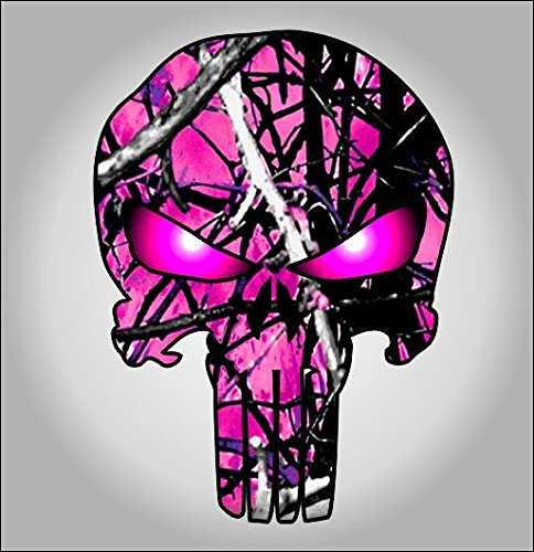 pink camouflage punisher sticker Shipping