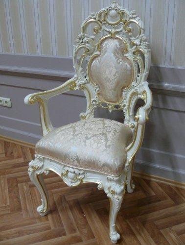 Barock Armlehner Stuhl Antik Stil Rokoko Vp9978
