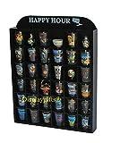 Happy Hour Shot Glass Display Case Shelf Wall Curio, No Door