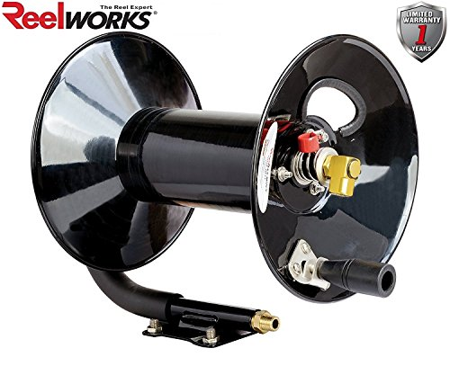 ReelWorks L201303A Hand Crank Air Compressor Hose Reel Without Hose