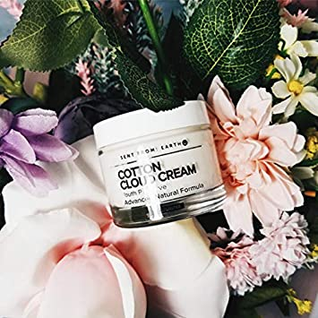 Sent From Earth COTTON CLOUD CREAM Youth Preserve Advanced Natural Formula Organic Ingredients Formulated for Sensitive Skin All Types of Skins