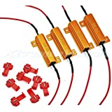 XtremeVision 50W 6Ohm LED Load Resistors for LED Turn Signal Lights or LED License Plate Lights (Fix Hyper Flash, Warning Cancellor) - 2 Pairs