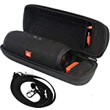 Hard Travel Case for JBL Charge 3 JBLCHARGE3BLKAM Waterproof Portable Bluetooth Wireless Speaker (Black). Extra Room for USB Cable and Charger .by PAIYULE