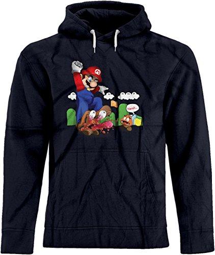 BSW Unisex Super Mario Goomba Squish Harsh Premium Hoodie XS (Mens Super Mario Luigi Hoodie)