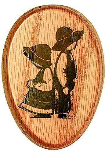 AllAmishFurniture Amish Towel BOY-Girl Magic Marble Holder Oak Hardwood