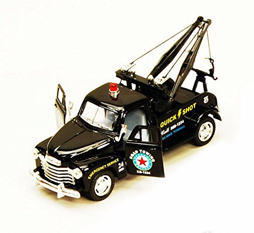 1953 Chevy Tow Truck, Black - Kinsmart 5033D - 1/38 scale Diecast Model Toy Car (Brand New, but NO BOX) (Diecast Wrecker Truck)