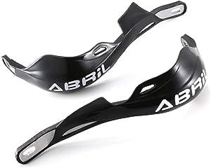 ABRIL 2pcs/Set Universal Motorcycles Motorbike Handguards Handlebar Hand Brush Guards Handle Protector Wind Shield Crash Protector for Honda Yamaha Suzuki Kawasaki Black Color