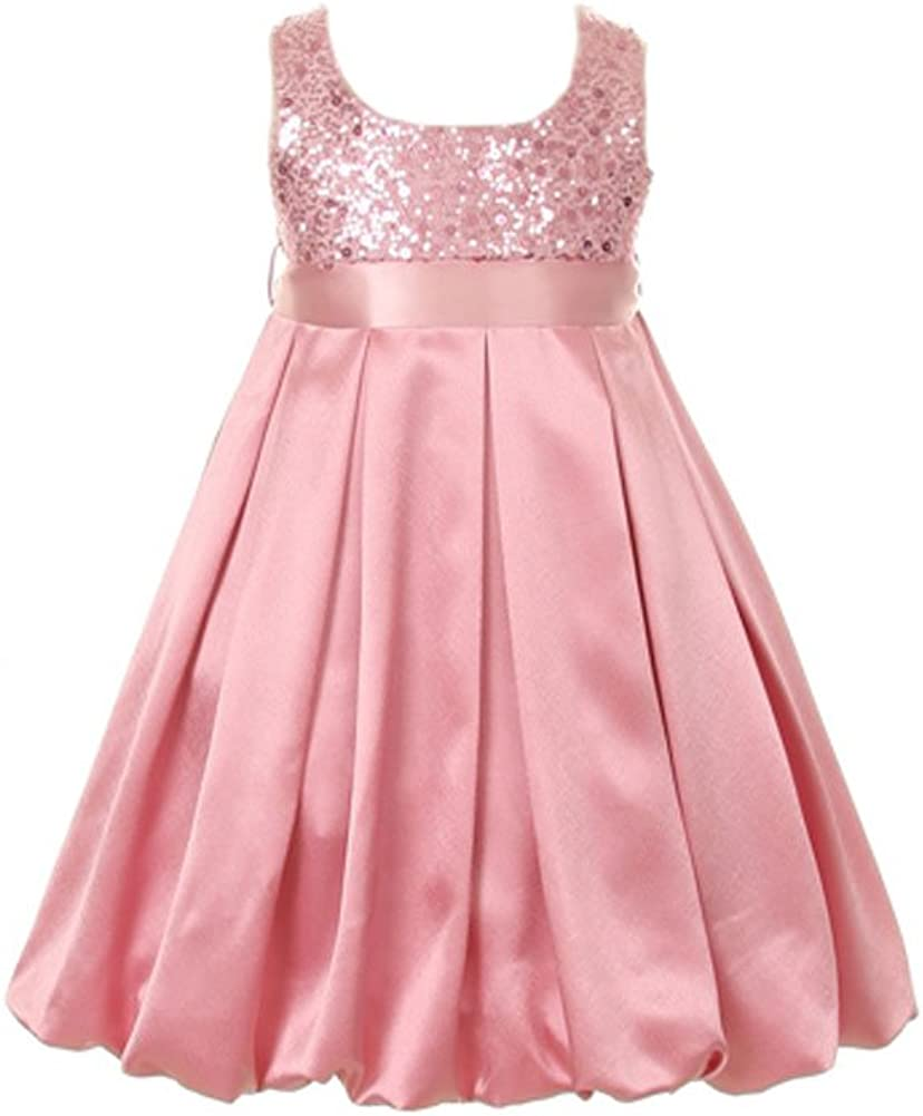 Dempsey Marie Satin Bubble Regular discount Popular shop is the lowest price challenge Sequin Special Occasion Holida Bodice