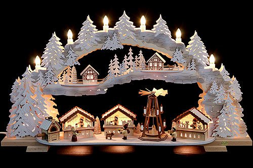 Tietze Candle Arch - Christmas Market Snow - 72x43x13 cm / 28x16x5 inch ()