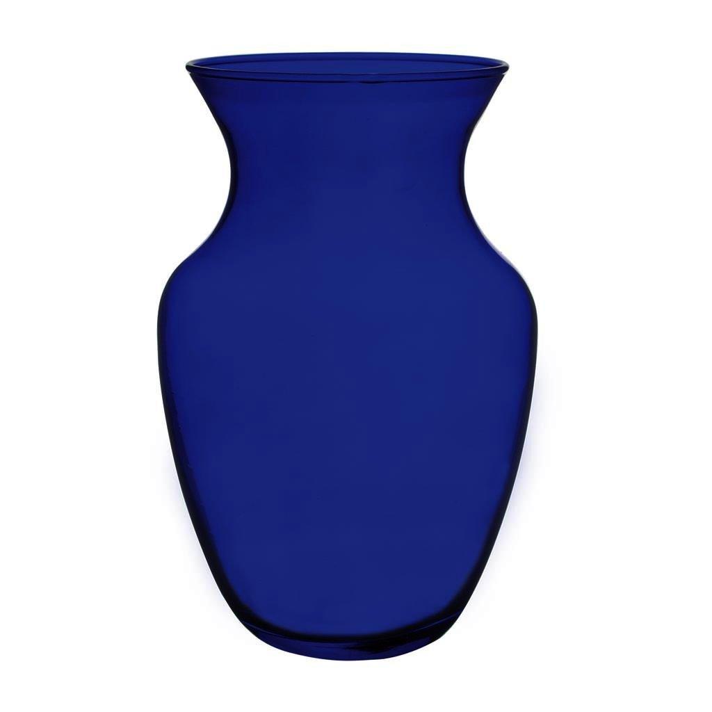 """Floral Supply Online 8"""" Cobalt Blue 999 Rose Vase- Decorative Glass Flower Vase for Floral Arrangements, Weddings, Home Decor or Office."""