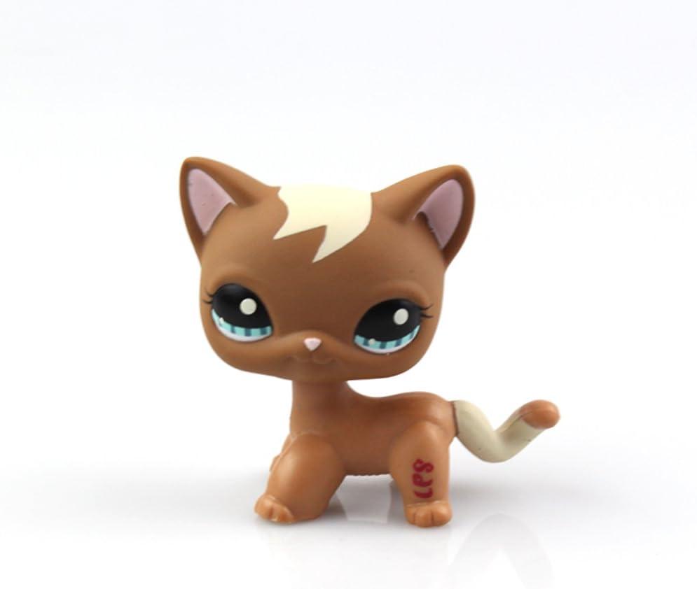 LPS Toys Littlest Pet Shop Rare Grey Short Hair Kitten Cat With Green Eyes Gifts