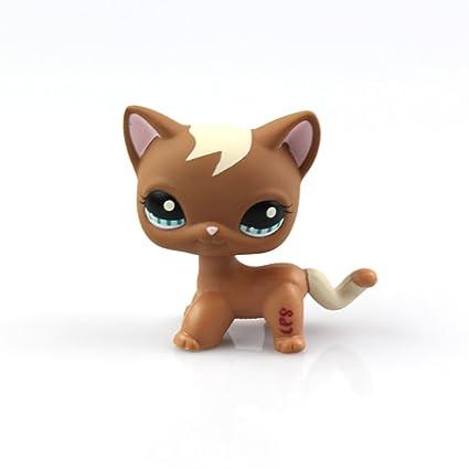 Littlest Pet Shop Short Hair Cat  series LPS 1Pcs random choice