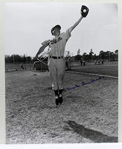 DUKE SNIDER SIGNED AUTOGRAPHED 16X20 PHOTO BROOKLYN DODGERS PSA/DNA X52637 ()