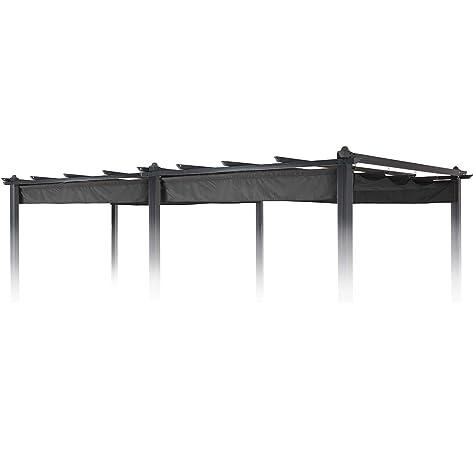 blumfeldt Pantheon Roof - Techo-pérgola, Techo de sustitución, Toldo, 3 x 6 m, Resiste a la Intemperie, Impermeable, para pérgola Pantheon, Beige: Amazon.es: Jardín