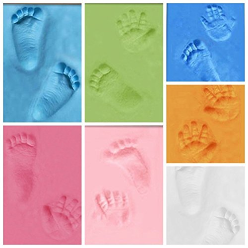 Baby Handprint and Footprint Frame Package-Quality Wood Frame with Safe Clay-Baby Gift,Best Baby Shower or Keepsake Personalized Gift (Pink) by Mai Poetry (Image #2)