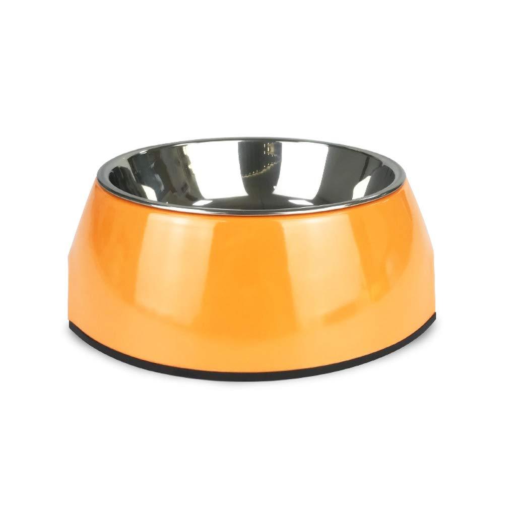 M 17.56.5cm Simple Cat Food Bowl Cat Bowl Stainless Steel Pet Bowl Creative Dog Bowl Large Dog Dog Bowl Dog Basin (Size   M 17.5  6.5cm)